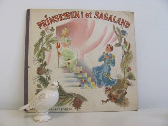 Vintage1935 Danish Picture Book Princess In Iceland Prinsessen I Et Sagaland