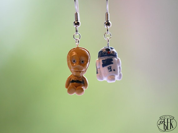 Star Wars inspired earrings - R2D2 and C3PO