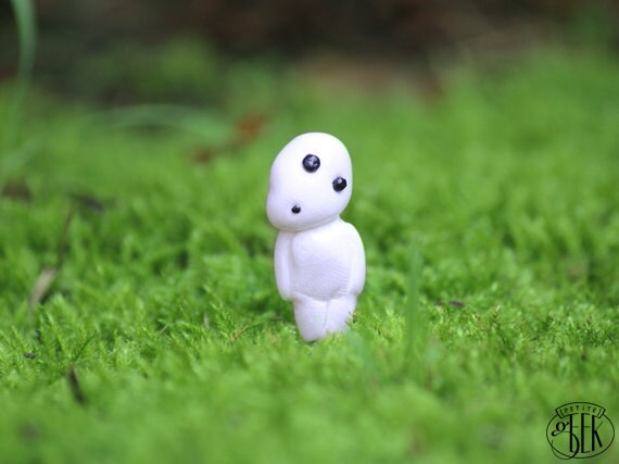 Tree Spirit - Studio Ghibli inspired Miniature Plant Stake for Planters or Terrariums.