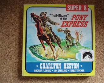 Trail Blazers of the Pony Express- Vintage 8MM Movie- We specialize in 8mm films-Check us out