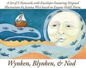 Card Set - Wynken Blynken and Nod, Original Illustrations