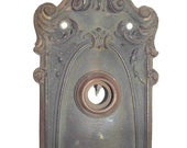 Antique Ornate Copper Door Plate