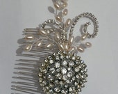vintage and fresh water pearl comb