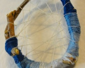 Dream Catcher in Blue - All Natural - One of a Kind - Unique