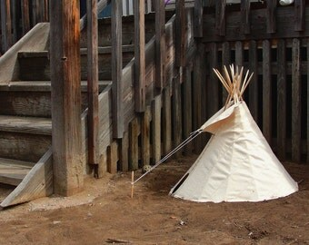 "Real 18"" Crow Tipi Tepee Teepee with poles, rope kit, and setup instructions - LIMITED EDITION"