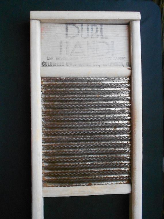 Vintage Small White Dubl Handi Washboard