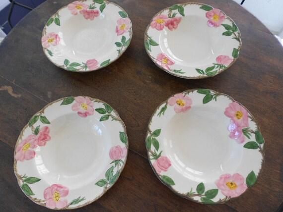 reserved for Roger - 4 Franciscan Desert Rose soup bowls