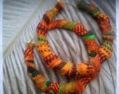 African Kente Cloth Earrings