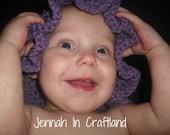 Floppy Girls Crochet  Sunhat (Lavender 12-32 months)