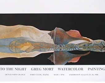 Greg Mort Poster INTO THE NIGHT limited editions Signed by the artist.