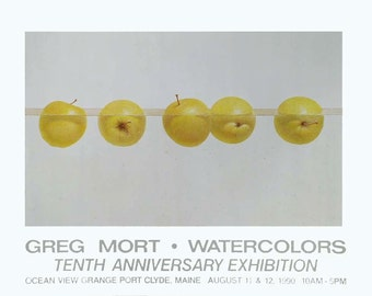 Poster by Greg Mort FLOATING APPLES Limited Edition Fine Art Poster