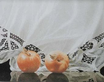 Greg Mort  Vintage Lace and apples fine art cards  14.00 A DOZEN.