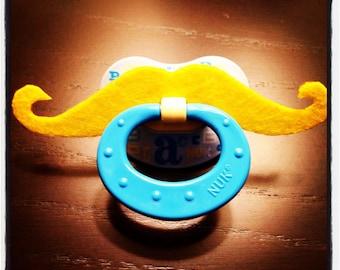 Mustache Pacifier - Blonde Handlebar