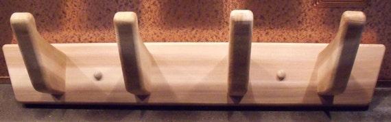 Cedar sauna or bath robe/towel hooks handmade with reclaimed salvaged wood.