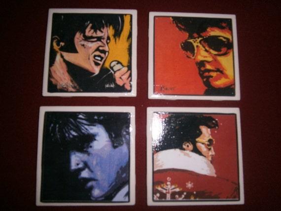 Elvis Ceramic Tile Coasters