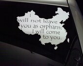 China car decal supporting adoption