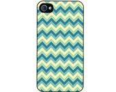 iPhone 4/4s case with Retro Turquoise Chevrons
