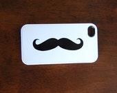 iphone 4 case iphone 4s case with Moustache image