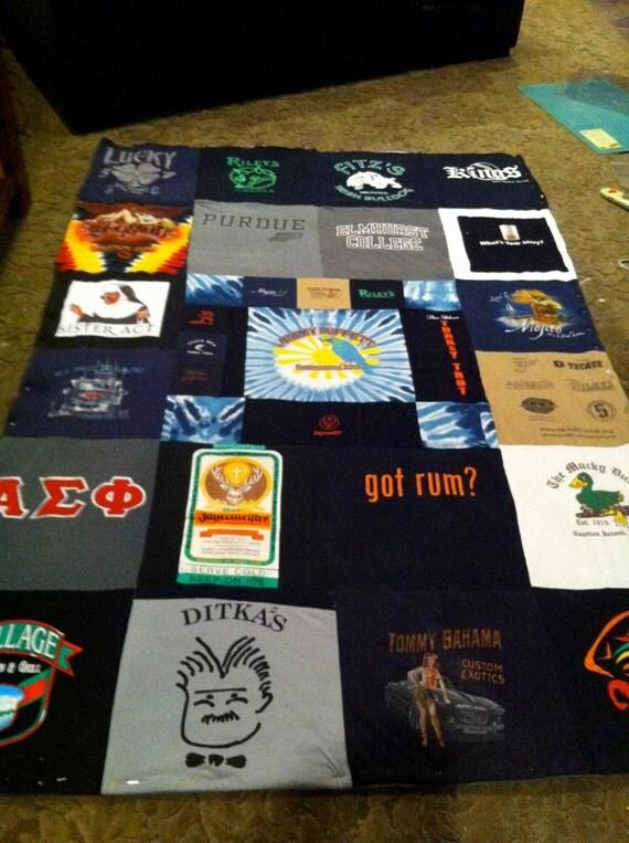 Custom Made T-Shirt Blanket