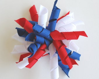 USA Korker Bow- Red, White and Blue
