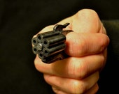 "Gun Ring ""Wasteland Steel Acrylic Static Prop steampunk diesel punk ,sci fi retro"