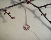 Small Bubbles Necklace Solid Pink Gold