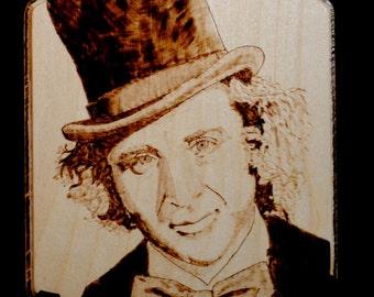 Gene Wilder Willy Wonka Portrait Plaque