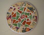 Chintz Bone China and Glass Mosaic Teapot Stand