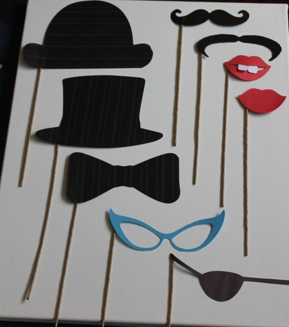 20 piece Photo Booth Props - choose your own pieces