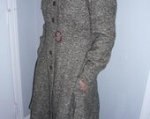 Lovely Olive Grey Vintage Coat - Size Small