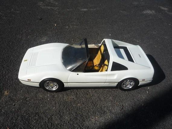 1980s White Barbie Ferrari