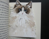 Original Watercolor Bookmark - Ragdoll Babe