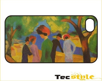 Macke - Lady in a Green Jacket - iPhone / Android Phone Case / Cover - iPhone 4 / 4s, 5 / 5s, 6 / 6 Plus, Samsung Galaxy s4, s5