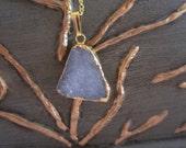Druzy Agate Gold Vermeil Necklace