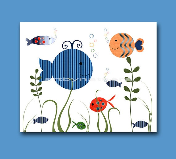 Nursery Art For Children Kids Wall Art Baby Girl Nursery Baby: Sea Baby Boy Nursery Decor Kids Art Children Wall Art Nursery