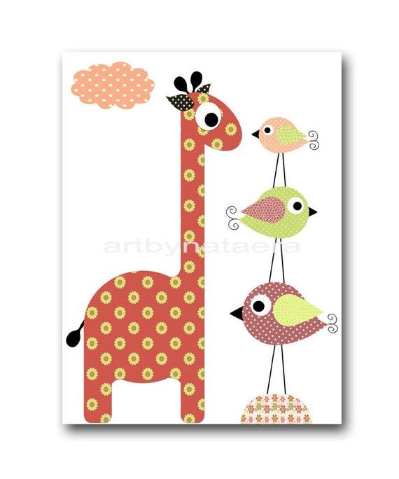 baby shower gift art for kids room kids wall art baby girl nursery