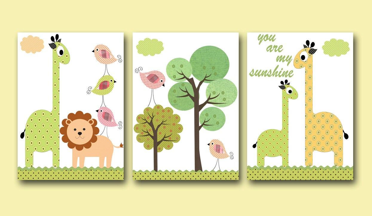 Wall Designs For Toddler Rooms : Art for kids room wall baby decor nursery