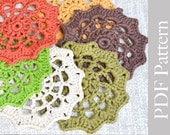 PDF Pattern Crocheted Coasters