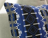 Designer blue Knitted cushion cover 50cm/19 inch