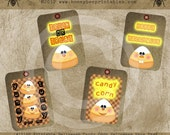 Printable Halloween Candy Corn Trick or Treat Hang Tags / Digital Download JPEG File- DIY U Print - OFG Team