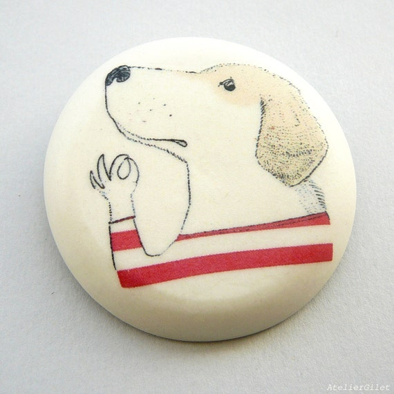 Sailor dog brooch by AtelierGilet - the Gondolier - LARGE