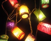 20,35 Japanese Asian Zen Multi Color Lantern Fairy String Lights Patio Party Wedding Wall Floor Hanging Gift Home Decor