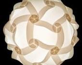 12 in. or 30cm IQ Pendant Light Modern Lighting Decor ZELight White Jigsaw Wedding Zen Art Bedside Shades Living Bedroom Home Decor