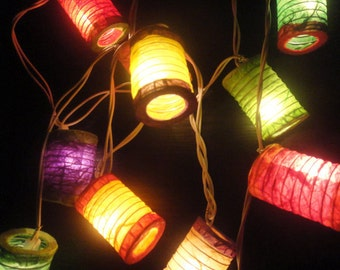 20,35 Japanese Asian Zen Multi Color Lantern Fairy String Lights Party Patio Wedding Floor Table Hanging Home Decor Living Bedroom Holiday