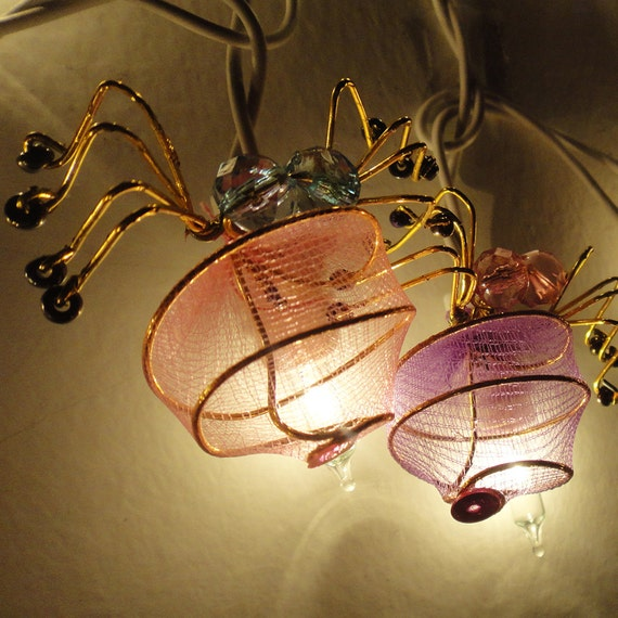 20 Spiders Mammoths Multi Colour Fairy Lights String 3.5M