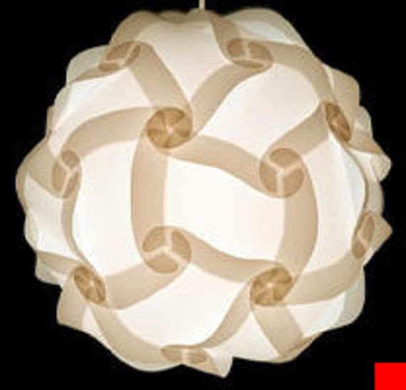 12 in. or 30cm IQ Pendant Light Modern Lighting Decor ZELight White Jigsaw Wedding