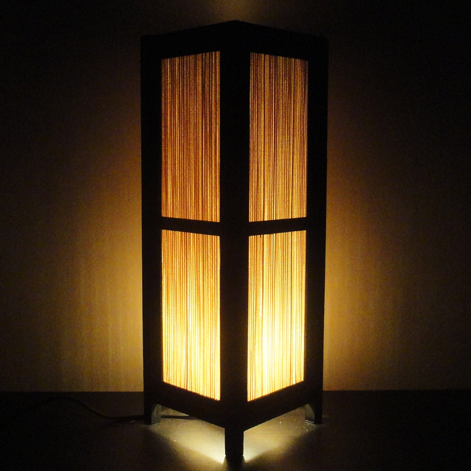 15 39 39 tall asian oriental japanese bamboo zen art bedside for Decoration lamps