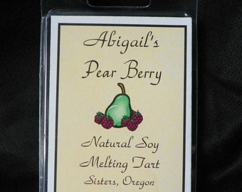 Pear Berry Handmade Natural Soy Melting Tart by Abigail's on Main