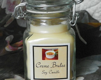 Creme Brulee Small Apothecary Jar Natural Soy Candle by Abigail'son Main