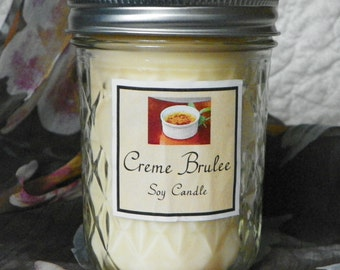 Creme Brulee 8 oz. Jelly Jar Natural Soy Candle by Abigail's on Main